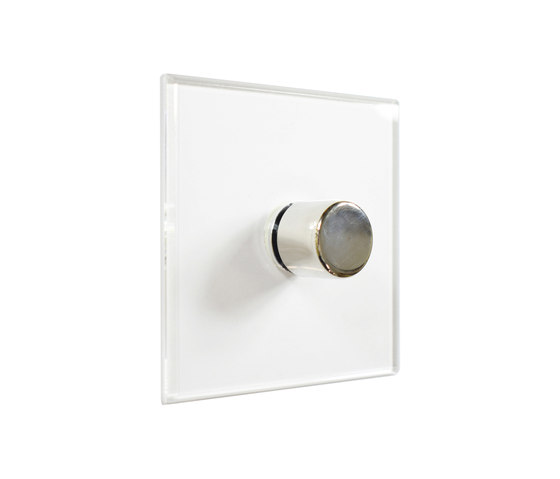 Invisible Lightswitch® with Nickel Silver rotary dimmer by Forbes & Lomax | Rotary switches
