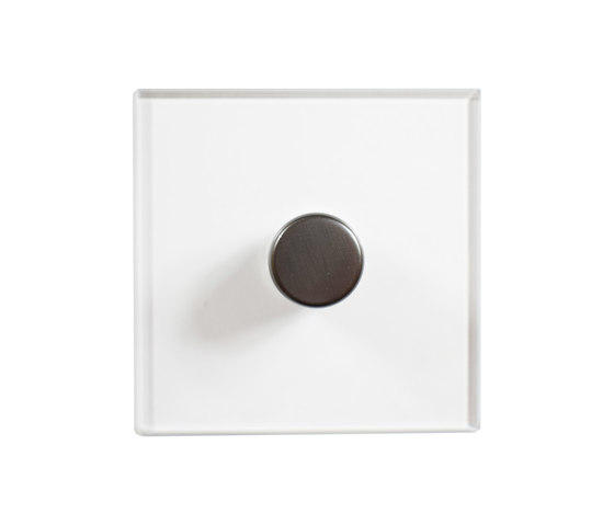 Invisible Lightswitch® with Antique Bronze rotary dimmer by Forbes & Lomax | Rotary switches