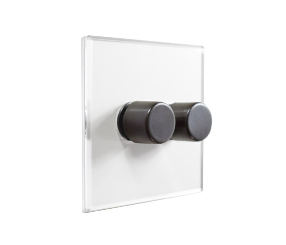 Invisible Lightswitch® with Antique Bronze two gang rotary dimmer di Forbes & Lomax | Interruttori manopola