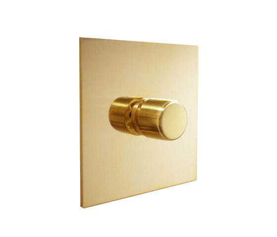 Unlacquered brass rotary dimmer di Forbes & Lomax | Interruttori manopola