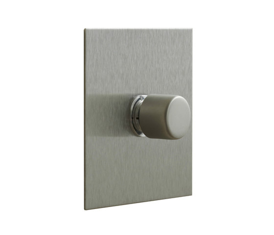 Stainless Steel rotary dimmer by Forbes & Lomax   Rotary switches