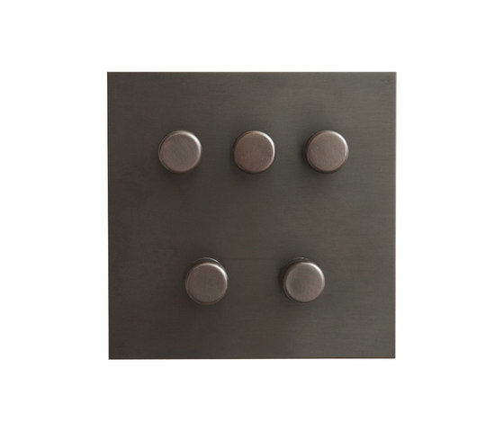 Antque Bronze five gang rotary dimmer di Forbes & Lomax | Interruttori manopola