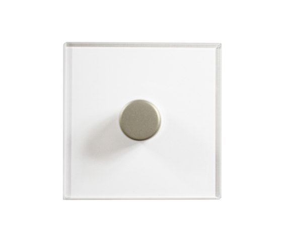 Invisible Lightswitch® with Satin Nickel rotary dimmer di Forbes & Lomax | Interruttori manopola