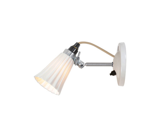 Hector Small Pleat Switched Wall Light, Natural by Original BTC | Reading lights