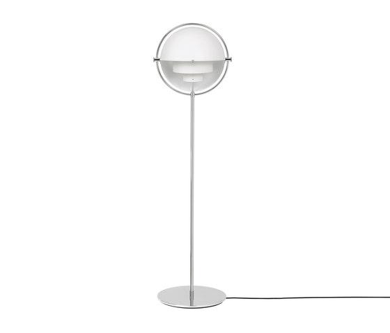 Multi-Lite Floor Lamp | Chrome/White de GUBI | Lámparas de pie