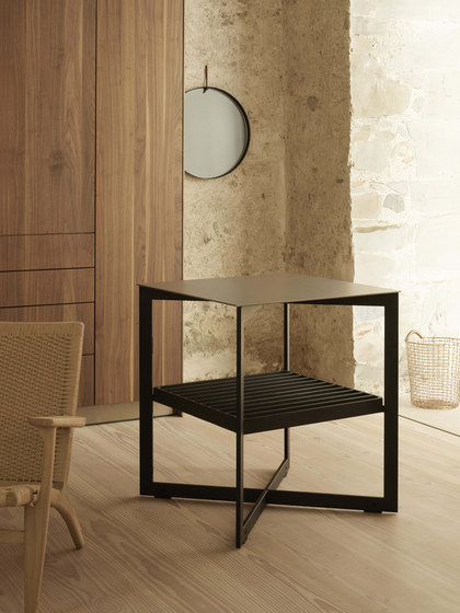 b Solitaire stainless steel by bulthaup   Side tables