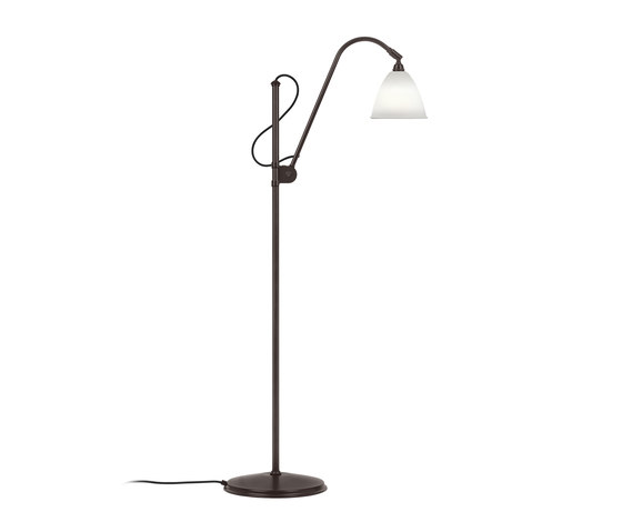 Bestlite BL3 S Floor lamp | Black Brass/Bone China von GUBI | Standleuchten