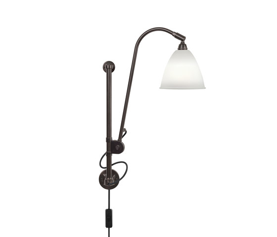 Bestlite BL5 Wall lamp | Black Brass/Bone China by GUBI | Wall lights