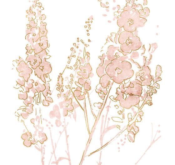 In Flower di LONDONART | Carta parati / tappezzeria