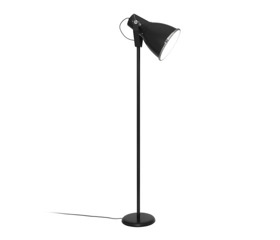 Stirrup 3 Floor Light with Etched Glass, Black von Original BTC | Standleuchten