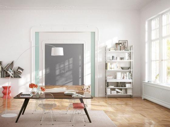 Wooden door sliding door system by raumplus | Space dividing storage