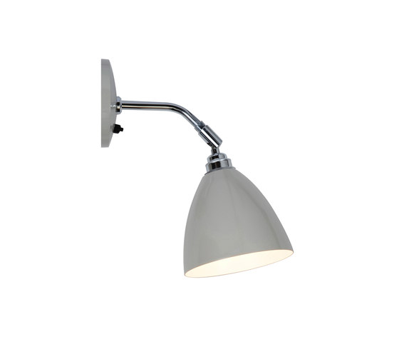Task Short Wall Light, Putty Grey by Original BTC | Wall lights