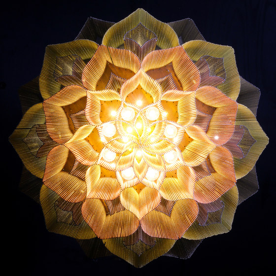 Lotus Mandala - 1000 S by Willowlamp | Suspended lights