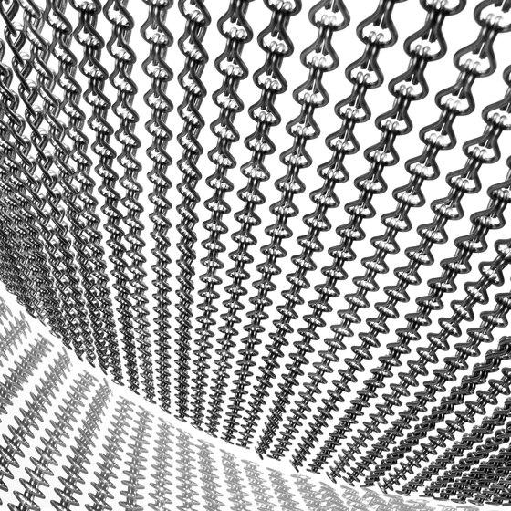 Space Divider Curved Spa di Kriskadecor | Tele metallo