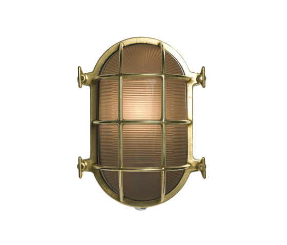 Oval Brass Bulkhead with Internal Fixing Points Chrome Plate by Original BTC   Wall lights