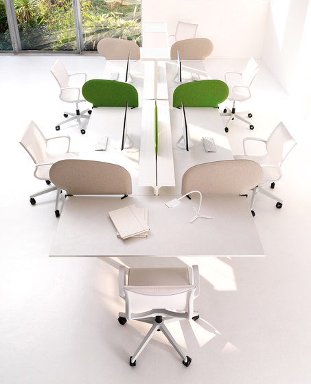 STILO desk by IVM | Table dividers