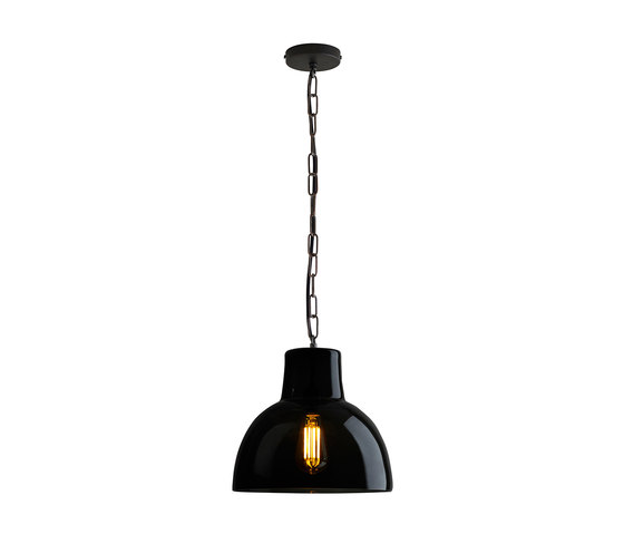 Glass York Pendant, Size 2, Anthracite and Weathered Brass by Original BTC | Suspended lights