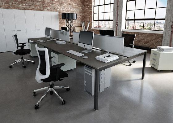 KS LIGHT desk by IVM | Table dividers