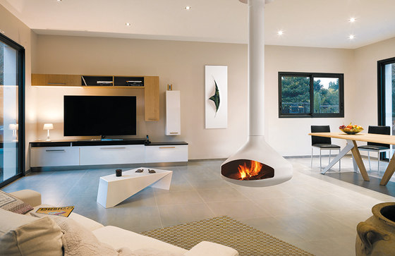 Ergofocus White by Focus | Open fireplaces