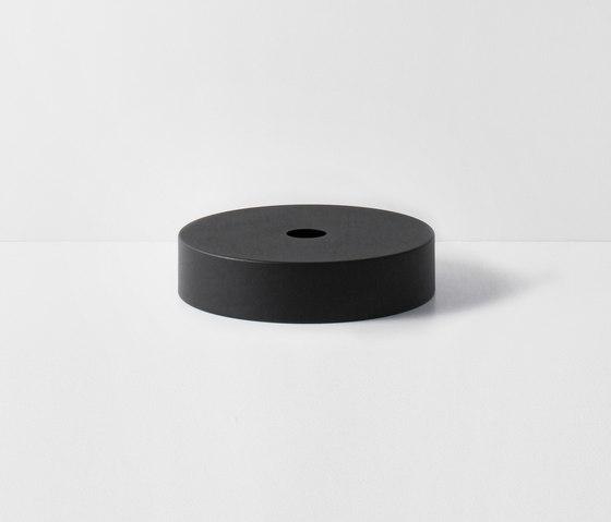 Socket Pendant Low - Black | Record Shade - Black de ferm LIVING | Suspensions