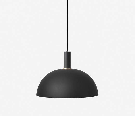 Socket Pendant Low - Black | Dome Shade - Black by ferm LIVING | Suspended lights