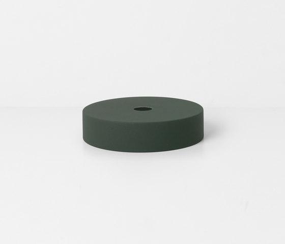 Socket Pendant Low - Dark Green   Record Shade - Dark Green de ferm LIVING   Suspensions