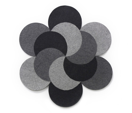 Almanach Circle Grey by HANDS ON DESIGN | Rugs