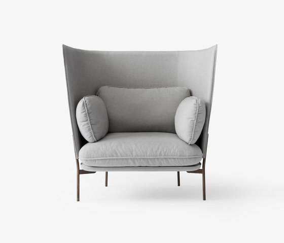 Cloud High Back One Seater LN5 Bronzed w. Sunniva by &TRADITION | Armchairs