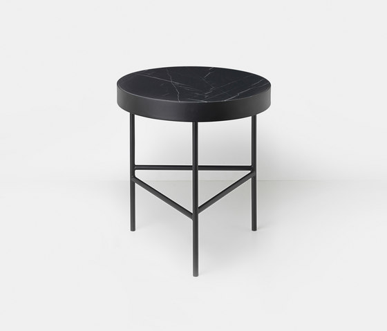 Marble Table - Black Marquina - Medium by ferm LIVING | Side tables