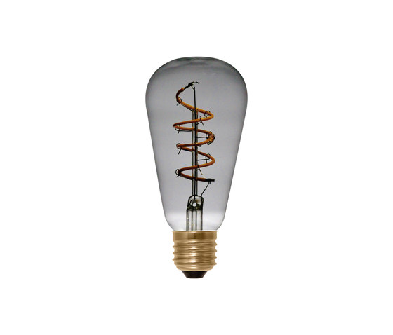 LED Rustica Curved Spiral grey by Segula | Light bulbs