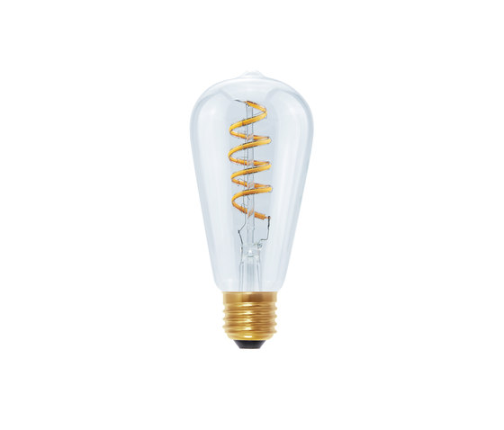 LED Rustica Curved Spiral clear de Segula | Ampoules
