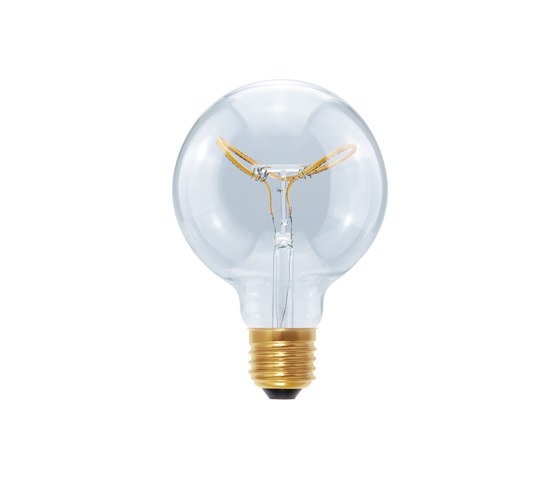 LED Globe 95 Curved Butterfly clear by Segula | Light bulbs