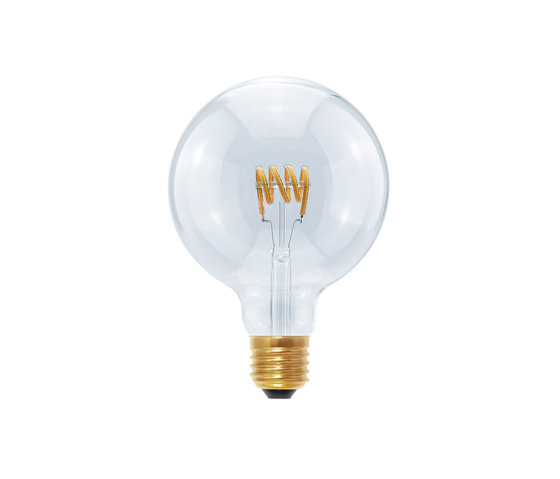 LED Globe 125 Curved Spiral clear by Segula | Light bulbs