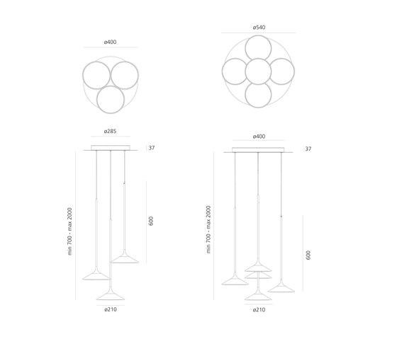Orsa Cluster 3x21 de Artemide | Lámparas de suspensión