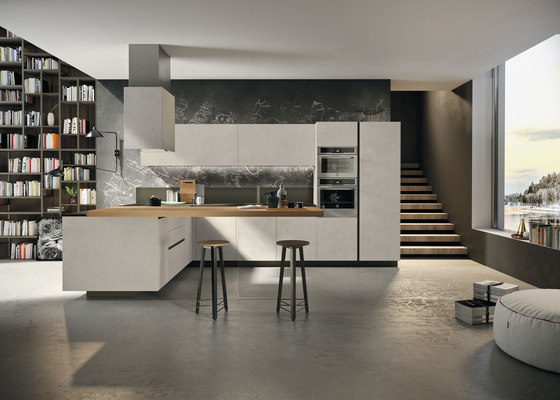 Way | resina cenere by Snaidero USA | Fitted kitchens