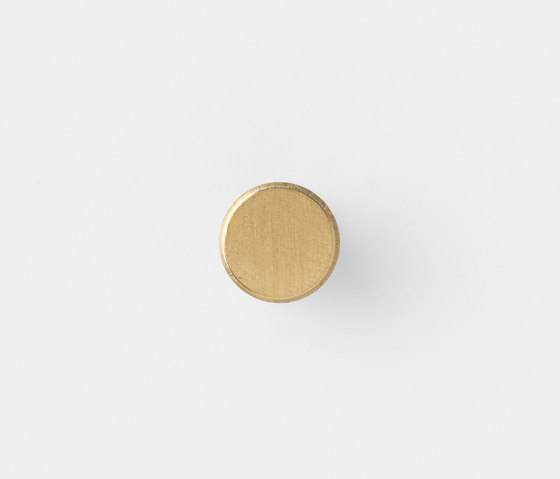 Hook - Brass - Small by ferm LIVING | Cabinet knobs