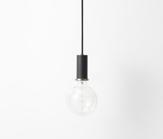 Socket Pendant Low - Black by ferm LIVING | Suspended lights
