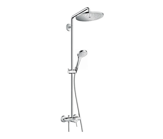 hansgrohe Croma Select 280 Air 1jet Showerpipe with single lever mixer by Hansgrohe | Shower controls