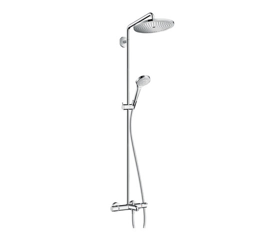 hansgrohe Croma Select 280 Air 1jet Showerpipe for bath tub by Hansgrohe | Shower controls