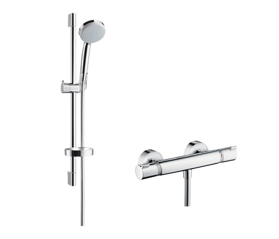 hansgrohe Ecostat Comfort Combi Set 0.65 m with Croma 100 Vario hand shower by Hansgrohe | Shower controls