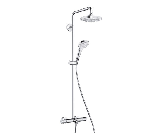 hansgrohe Croma Select E 180 2jet Showerpipe for bath tub by Hansgrohe | Shower controls