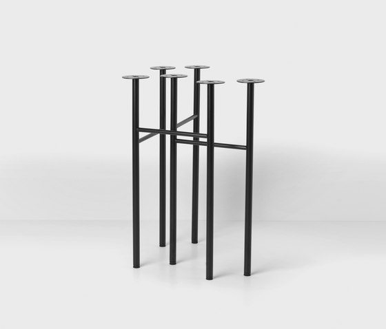 Mingle Trestles W48 - Black (Set of 2) by ferm LIVING | Trestles