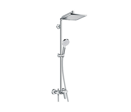 hansgrohe Crometta E 240 1jet Showerpipe with single lever mixer by Hansgrohe | Shower controls