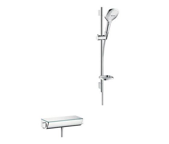 hansgrohe Ecostat Select Combi Set 0.65 m with Raindance Select E 120 3jet hand shower by Hansgrohe | Shower taps / mixers