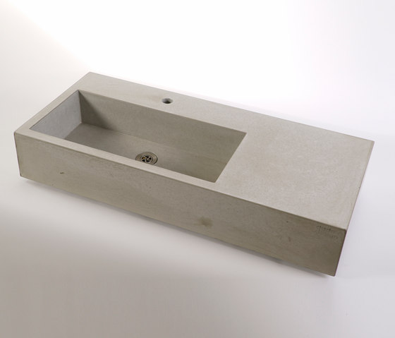 dade CASSA 90m concrete sink by Dade Design AG concrete works Beton | Wash basins