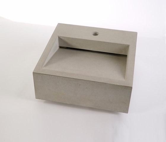 dade CUNEO 40m concrete sink by Dade Design AG concrete works Beton | Wash basins
