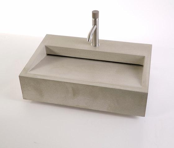 dade CUNEO 60m concrete sink by Dade Design AG concrete works Beton | Wash basins
