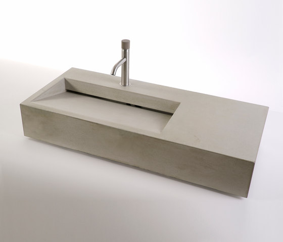 dade CUNEO 90m concrete sink by Dade Design AG concrete works Beton | Wash basins