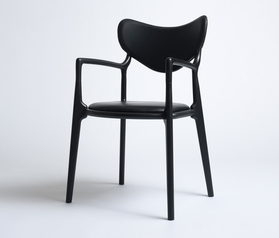 Salon Chair - Beech  Black de True North Designs | Sillas