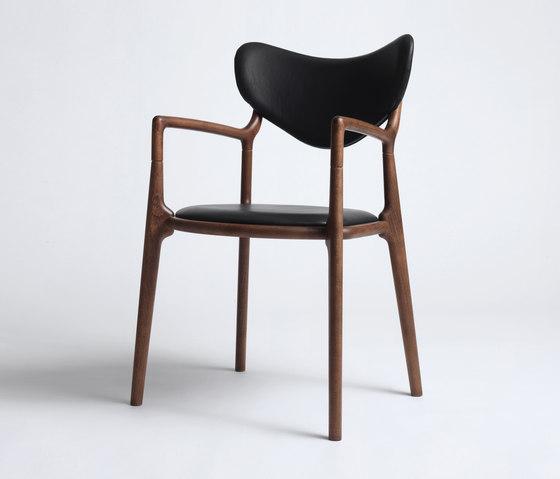 Salon Chair - Beech / Walnut Stain di True North Designs | Sedie